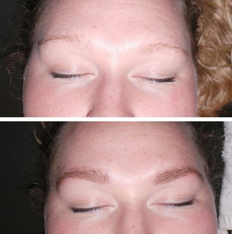 Eyebrow Makeover - eyebrow tint and eyebrow exstensions